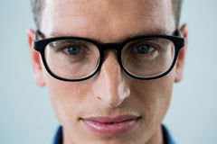 Close-up of man in spectacles Royalty Free Stock Image