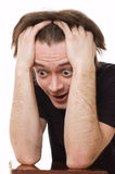 Close-up. Man with surprised Royalty Free Stock Photography