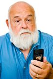 Close-up of a man text messaging royalty free stock image