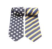 Close-up of man ties. Isolated on a white background Royalty Free Stock Photography