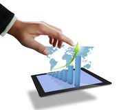 Close up of man using tablet computer Royalty Free Stock Images