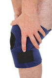 Close-up Of Man Wearing Knee Brace Royalty Free Stock Images
