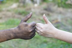 close up man and woman hands touching holding together on blurred background for love valentine day concept, shake hand with a d royalty free stock images