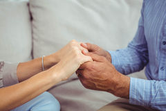 Close-up of man and woman holding hands Royalty Free Stock Photography