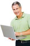 Close-up of a man working on laptop Stock Photos
