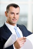 Close up of manager with layout Stock Photography