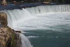 Close-up of the Manavgat waterfall Stock Photography