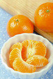 Close Up of Mandarin Orange Sections Stock Photos