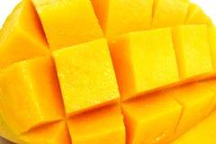 Close-up of a Mango cubes Royalty Free Stock Image