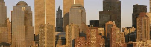 Close up of Manhattan skyline Royalty Free Stock Photography