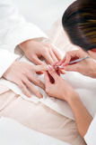 Close-up of manicure Stock Images