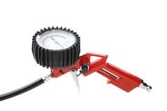 Close up of manometer for car tyre. Stock Image