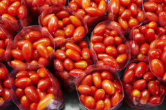 Close up many cherry tomato Stock Images