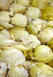 Close up many chinese sour cabbage Stock Photo