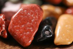 Close up on many colorful candy rocks. Royalty Free Stock Images
