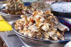 Close up many crab leg Stock Photos