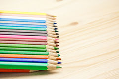 Close up of many different color pencils Royalty Free Stock Photography