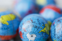 Close up of many earth globes Stock Photography