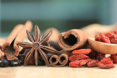 Close up many kind of Chinese herb Stock Photography