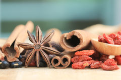 Close up many kind of Chinese herb Royalty Free Stock Images