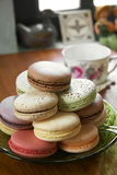 Close up many macaroon Stock Photography