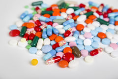 Close up of many pills Stock Photos