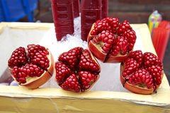Close up many pomegranate Royalty Free Stock Image