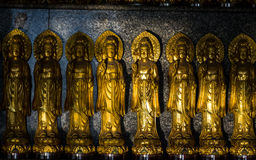 Close up many Small Statue of Guanyin Royalty Free Stock Images