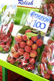 Close up many thai lychee Royalty Free Stock Photos
