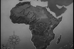 Close-up map of Africa stock video footage
