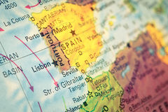 Close-up Map Portugal Royalty Free Stock Image