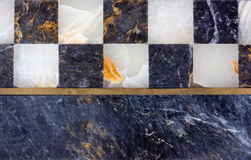Close-up on a Marble Chessboard Royalty Free Stock Photos