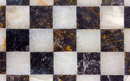 Close-up on a Marble Chessboard Stock Photography