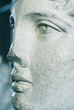 Close up of marble statue face. Of a beautiful woman Royalty Free Stock Photos