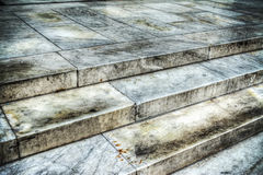 Close up of marble steps in Florence Stock Images
