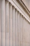 Close-up of marble Stoa of Attalos colonnade Stock Photography