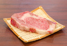 Close up marbled on fresh  Japanese Kobe Matsusaka beef Royalty Free Stock Image