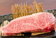 Close Up Marbled On Fresh Japanese Kobe Matsusaka Beef Stock Photos