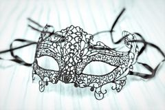 Close up of Mardi Gras or Carnival mask on a white background. Close up of Mardi Gras or Carnival mask on a white background stock images