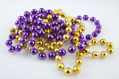 Close up of mardis gras beads Royalty Free Stock Photos