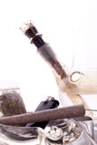 Close up of marijuana and smoking paraphernalia Royalty Free Stock Photo