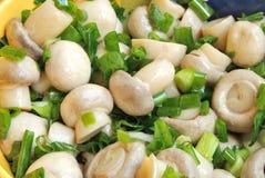 Close up of marinade mushrooms Stock Photos