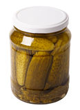 Close up of marinated cucumbers Stock Image