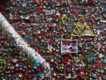 Close-up of The Market Theater Gum Wall Stock Photo