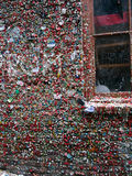Close-up of The Market Theater Gum Wall and window Royalty Free Stock Photography