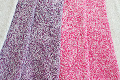 Close up of marl wool fabric Royalty Free Stock Photography