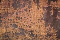 Close up marrom oxidado velho da parede do metal Fotografia de Stock Royalty Free