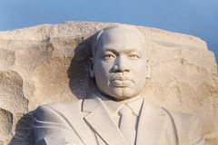 Close Up Martin Luther King Statue. Close up headshot of the Martin Luther King Memorial statue on the Tidal Basin in Washington, DC royalty free stock photography