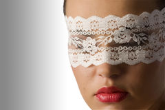Close up with mask Royalty Free Stock Images