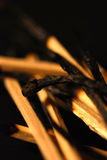 Close up matches composition, boxes, form and patterns Royalty Free Stock Images